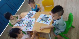 Tạo hình trang trí khung ảnh Bác Hồ – BiBi 9
